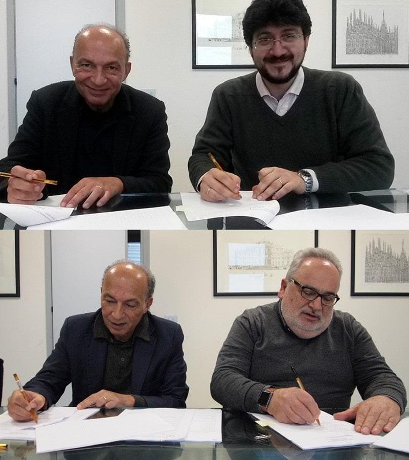 Assessore alla sanità Claudio Venturi con i presidenti regionali di avis e fidas Andrea Tieghi e Michele Di Foggia firmano la nuova convenzione regionale su sangue e plasma