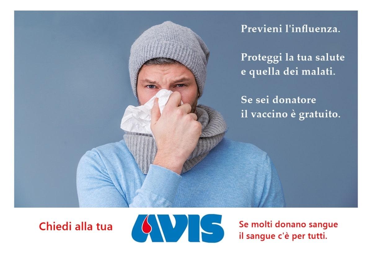 Vaccino antinfluenzale 2017 gratuito per i donatori di sangue e plasma