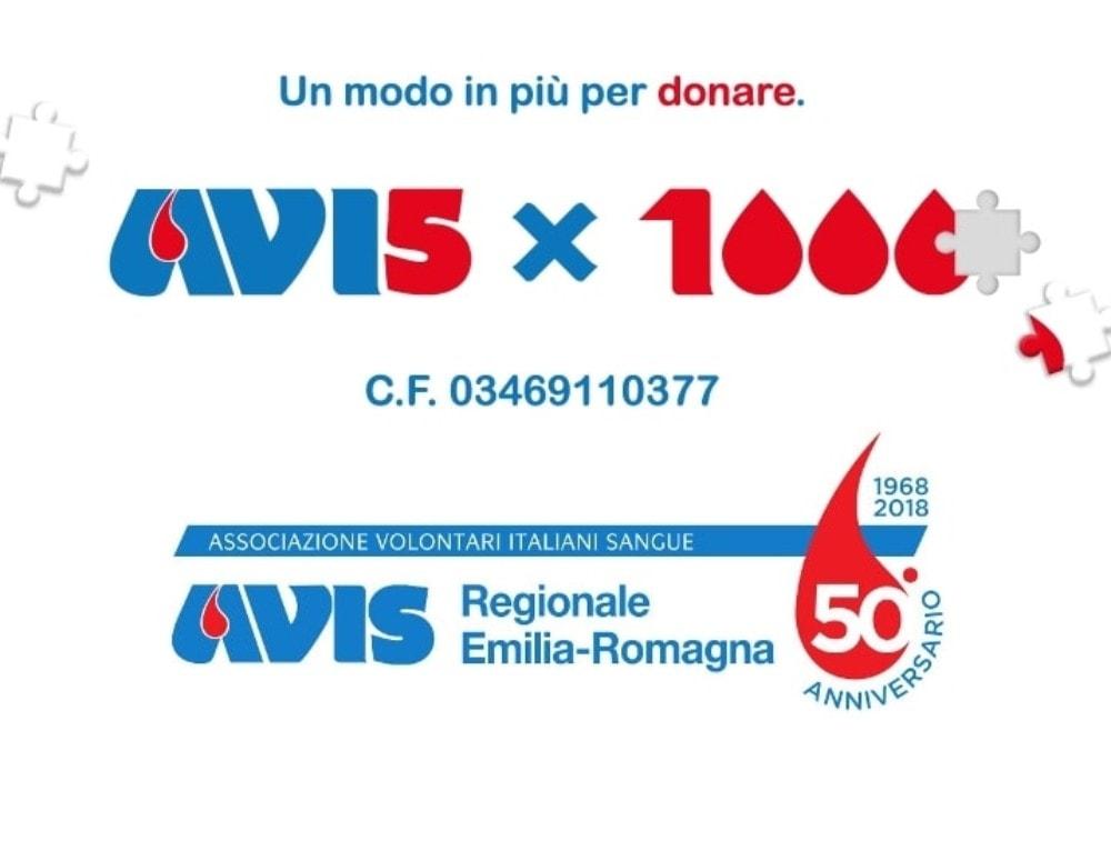 5×1000 ad Avis Emilia-Romagna C.F. 03469110377