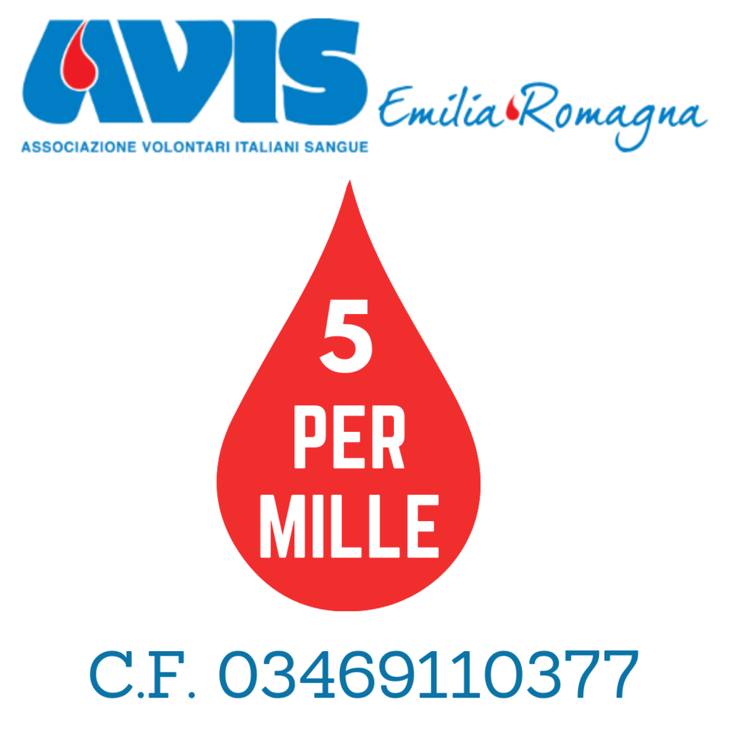Dona il tuo 5 per mille a Avis Emilia-Romagna c.f. 03469110377
