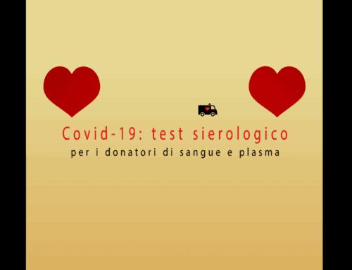 Covid-19: al via i test sierologici per i donatori